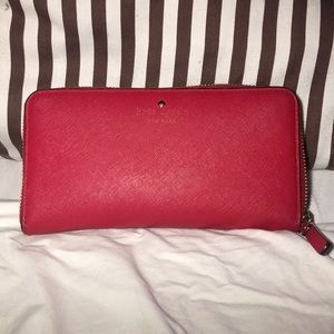 Kate Spade Red Lacey Wallet